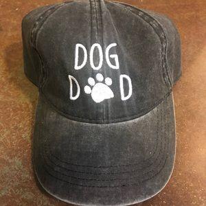 Accessories - Distressed grey DOG DAD adjustable cotton cap